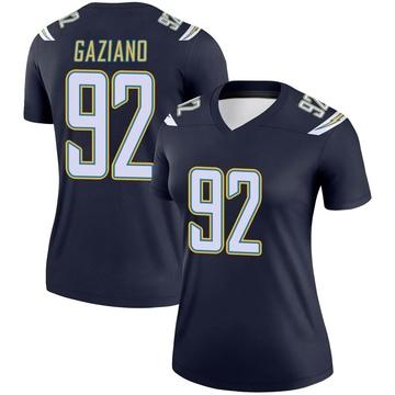 Women's Nike Los Angeles Chargers Joe Gaziano Navy Jersey - Legend