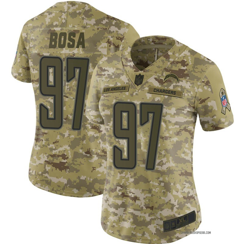 wholesale dealer a9f3b f3303 Women's Nike Los Angeles Chargers Joey Bosa Camo 2018 Salute to Service  Jersey - Limited