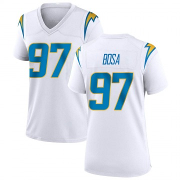 Women's Nike Los Angeles Chargers Joey Bosa White Jersey - Game