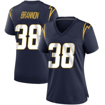 Women's Nike Los Angeles Chargers John Brannon III Navy Team Color Jersey - Game