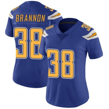 Women's Nike Los Angeles Chargers John Brannon III Royal Color Rush Vapor Untouchable Jersey - Limited