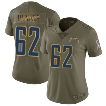 Women's Nike Los Angeles Chargers Josh Dunlop Green 2017 Salute to Service Jersey - Limited