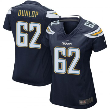 Women's Nike Los Angeles Chargers Josh Dunlop Navy Team Color Jersey - Game