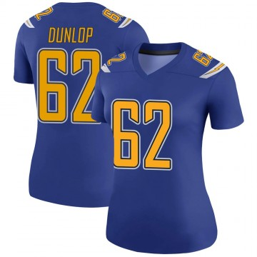 Women's Nike Los Angeles Chargers Josh Dunlop Royal Color Rush Jersey - Legend