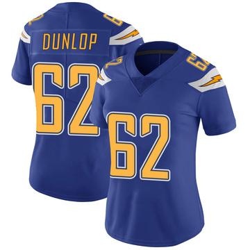 Women's Nike Los Angeles Chargers Josh Dunlop Royal Color Rush Vapor Untouchable Jersey - Limited