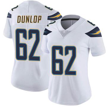 Women's Nike Los Angeles Chargers Josh Dunlop White Vapor Untouchable Jersey - Limited