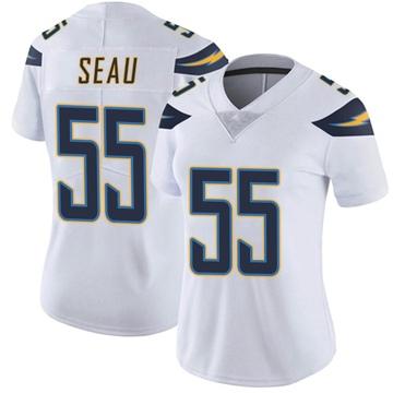 Women's Nike Los Angeles Chargers Junior Seau White Vapor Untouchable Jersey - Limited