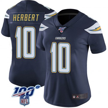 Women's Nike Los Angeles Chargers Justin Herbert Navy 100th Vapor Jersey - Limited