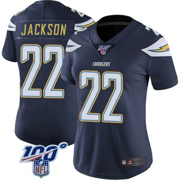 Women's Nike Los Angeles Chargers Justin Jackson Navy 100th Vapor Jersey - Limited