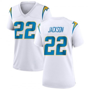 Women's Nike Los Angeles Chargers Justin Jackson White Jersey - Game