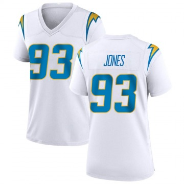 Women's Nike Los Angeles Chargers Justin Jones White Jersey - Game