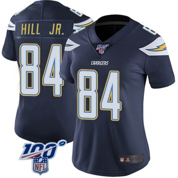 Women's Nike Los Angeles Chargers K.J. Hill Navy 100th Vapor Jersey - Limited