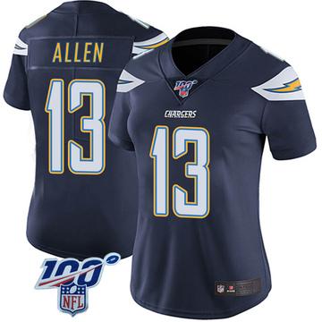 Women's Nike Los Angeles Chargers Keenan Allen Navy 100th Vapor Jersey - Limited