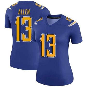 Women's Nike Los Angeles Chargers Keenan Allen Royal Color Rush Jersey - Legend