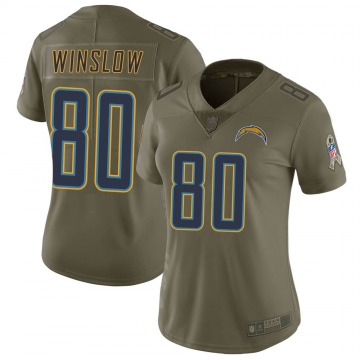 Women's Nike Los Angeles Chargers Kellen Winslow Green 2017 Salute to Service Jersey - Limited