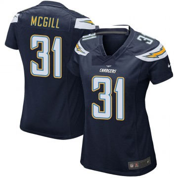 Women's Nike Los Angeles Chargers Kevin McGill Navy Team Color Jersey - Game