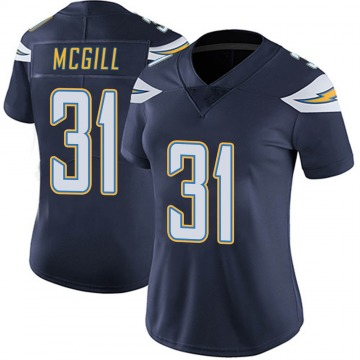 Women's Nike Los Angeles Chargers Kevin McGill Navy Team Color Vapor Untouchable Jersey - Limited
