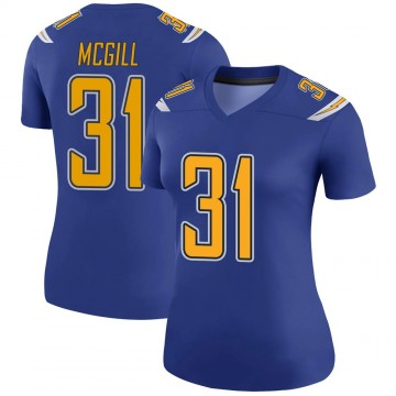 Women's Nike Los Angeles Chargers Kevin McGill Royal Color Rush Jersey - Legend