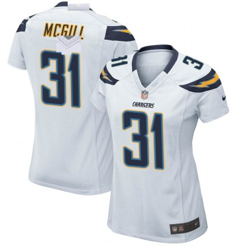 Women's Nike Los Angeles Chargers Kevin McGill White Jersey - Game