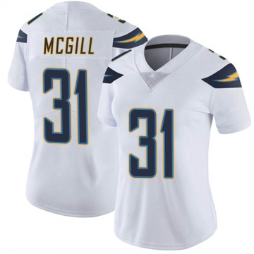 Women's Nike Los Angeles Chargers Kevin McGill White Vapor Untouchable Jersey - Limited