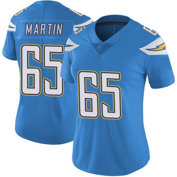Women's Nike Los Angeles Chargers Koda Martin Blue Powder Vapor Untouchable Alternate Jersey - Limited