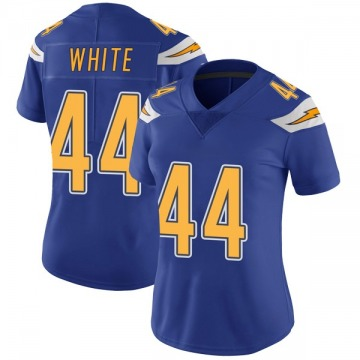 Women's Nike Los Angeles Chargers Kyzir White White Color Rush Royal Vapor Untouchable Jersey - Limited
