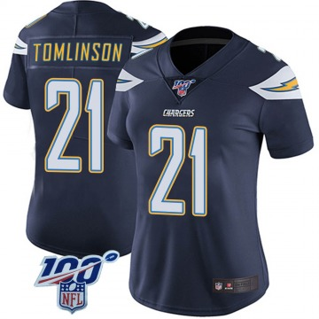 Women's Nike Los Angeles Chargers LaDainian Tomlinson Navy 100th Vapor Jersey - Limited