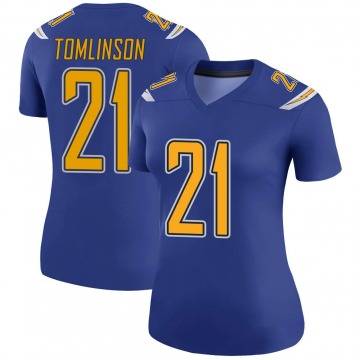 Women's Nike Los Angeles Chargers LaDainian Tomlinson Royal Color Rush Jersey - Legend