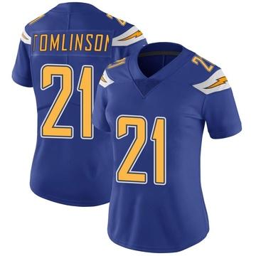 Women's Nike Los Angeles Chargers LaDainian Tomlinson Royal Color Rush Vapor Untouchable Jersey - Limited