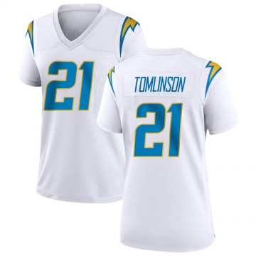 Women's Nike Los Angeles Chargers LaDainian Tomlinson White Jersey - Game