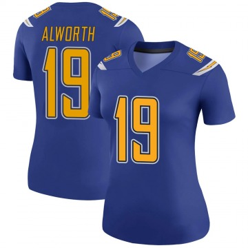 Women's Nike Los Angeles Chargers Lance Alworth Royal Color Rush Jersey - Legend