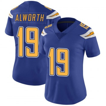 Women's Nike Los Angeles Chargers Lance Alworth Royal Color Rush Vapor Untouchable Jersey - Limited