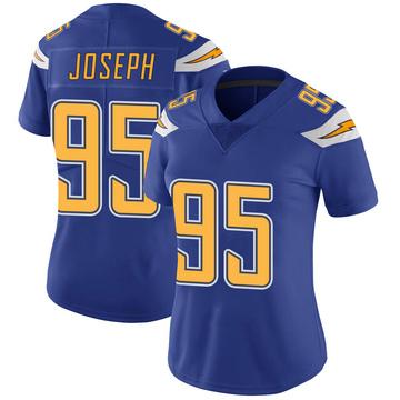 Women's Nike Los Angeles Chargers Linval Joseph Royal Color Rush Vapor Untouchable Jersey - Limited