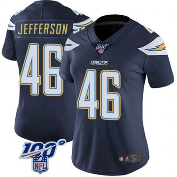 Women's Nike Los Angeles Chargers Malik Jefferson Navy 100th Vapor Jersey - Limited