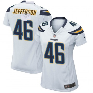 Women's Nike Los Angeles Chargers Malik Jefferson White Jersey - Game
