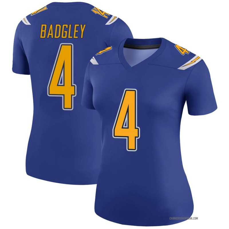 Women's Nike Los Angeles Chargers Michael Badgley Royal Color Rush Jersey - Legend