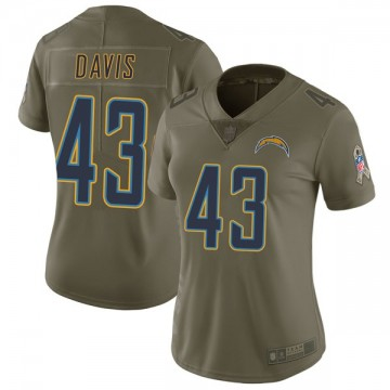 Women's Nike Los Angeles Chargers Michael Davis Green 2017 Salute to Service Jersey - Limited