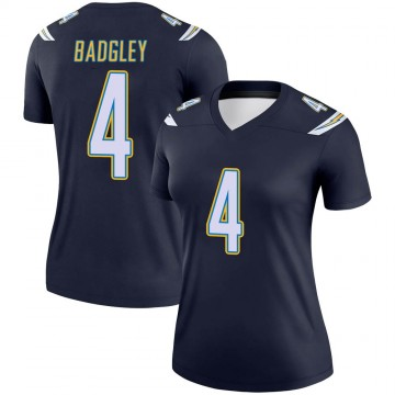 Women's Nike Los Angeles Chargers Mike Badgley Navy Jersey - Legend