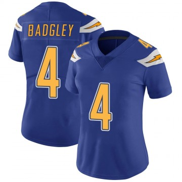 Women's Nike Los Angeles Chargers Mike Badgley Royal Color Rush Vapor Untouchable Jersey - Limited