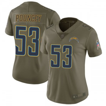 Women's Nike Los Angeles Chargers Mike Pouncey Green 2017 Salute to Service Jersey - Limited