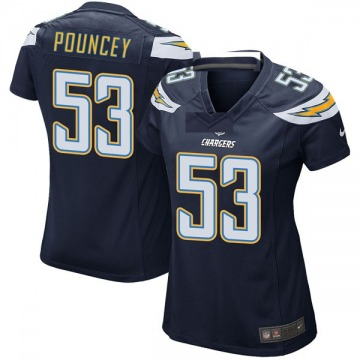 Women's Nike Los Angeles Chargers Mike Pouncey Navy Team Color Jersey - Game