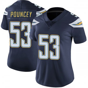 Women's Nike Los Angeles Chargers Mike Pouncey Navy Team Color Vapor Untouchable Jersey - Limited