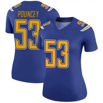Women's Nike Los Angeles Chargers Mike Pouncey Royal Color Rush Jersey - Legend