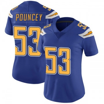 Women's Nike Los Angeles Chargers Mike Pouncey Royal Color Rush Vapor Untouchable Jersey - Limited