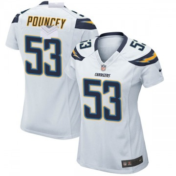 Women's Nike Los Angeles Chargers Mike Pouncey White Jersey - Game