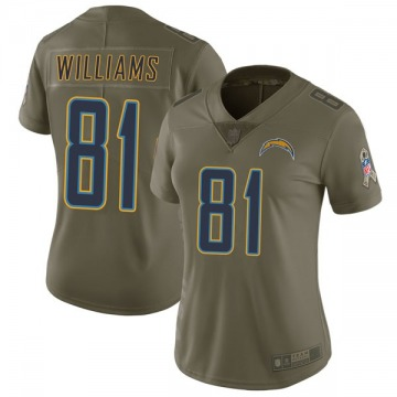 Women's Nike Los Angeles Chargers Mike Williams Green 2017 Salute to Service Jersey - Limited