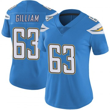 Women's Nike Los Angeles Chargers Nathan Gilliam Blue Powder Vapor Untouchable Alternate Jersey - Limited