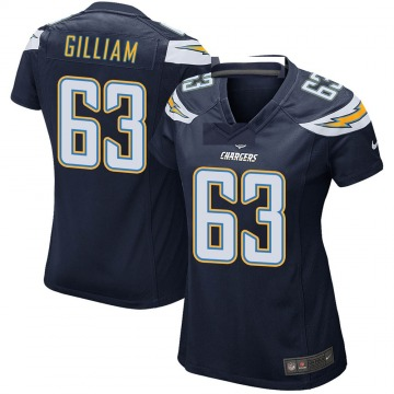 Women's Nike Los Angeles Chargers Nathan Gilliam Navy Team Color Jersey - Game
