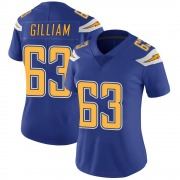 Women's Nike Los Angeles Chargers Nathan Gilliam Royal Color Rush Vapor Untouchable Jersey - Limited