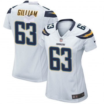 Women's Nike Los Angeles Chargers Nathan Gilliam White Jersey - Game